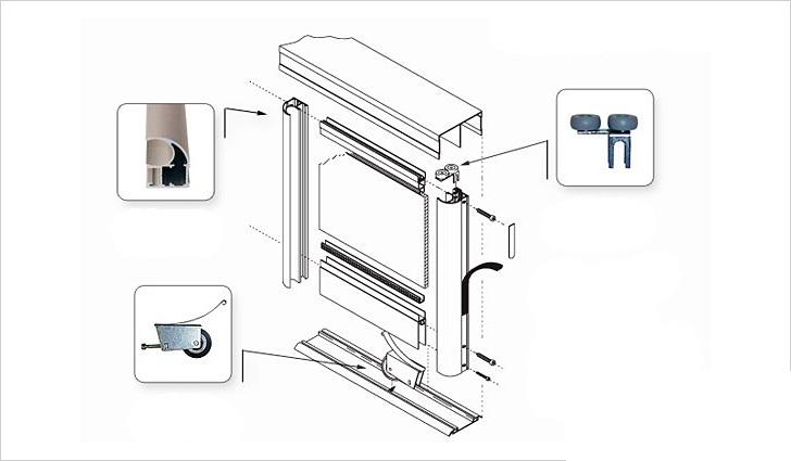 Как установить двери в шкафу купе